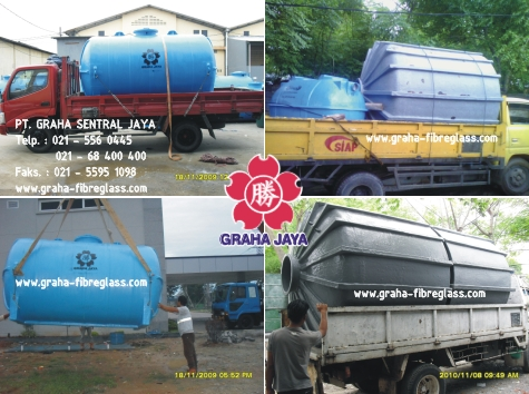 Tangki Air Pendam / Ground Water Tank Fiberglass Vertikal dan Horisontal Ukuran Besar