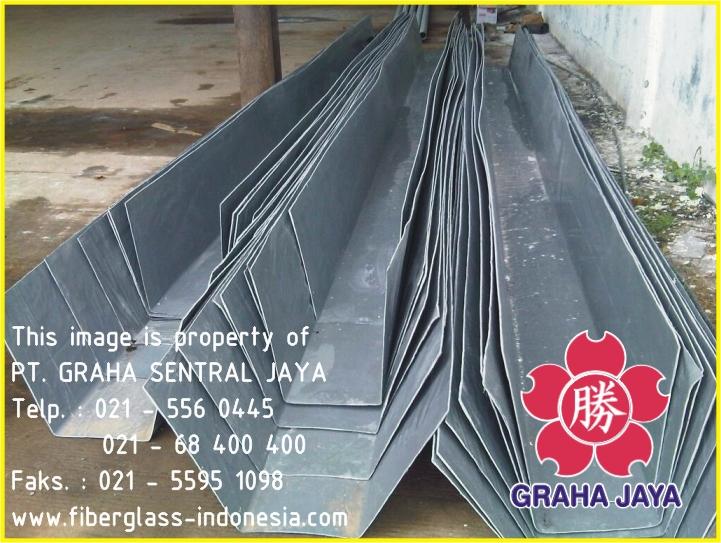 Talang air / gutter fiberglass