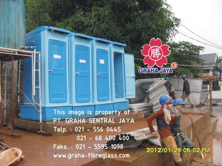 toilet portabel fibreglass